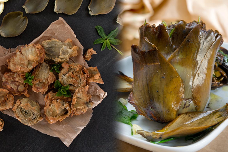 Alcachofas fritas o al horno