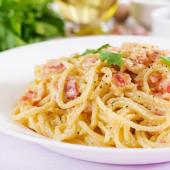 Espaguetis carbonara en Sant Andreu de la Barca