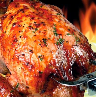 Pollo a l'ast en Sant Andreu de la Barca